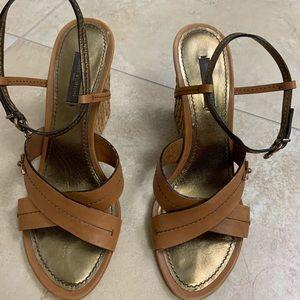 Louis Vuitton wedge Sandals size 7